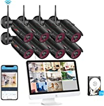 [All-in-One] 1080P Wireless Security Camera System with 15.6 Inch Monitor,ANRAN 8pcs 2MP Outdoor Home Surveillance Video WiFi Security Camera, 8CH NVR Built-in 2TB HDD, Night Vision Motion Detection