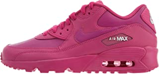 833376-603: Big Kids Air Max 90 Laser Fuchsia/White Leather Sneakers