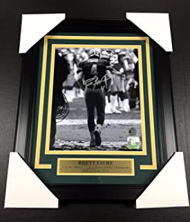 BRETT FAVRE TUNNEL AUTOGRAPHED FRAMED 8x10 PHOTO #1 GREEN BAY PACKERS SIGNED