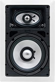 Earthquake Sound Imãge-83X (Single) 3-Way In-Wall (Left, Right, Center, and Surround) Speaker with Paintable Grille