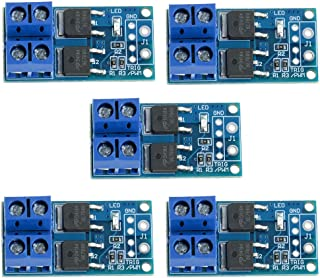 Anmbest 5PCS DC 5V-36V 15A(Max 30A) 400W Dual High-Power MOSFET Trigger Switch Drive Module 0-20KHz PWM Adjustment Electronic Switch Control Board Motor Speed Control Lamp Brightness Control