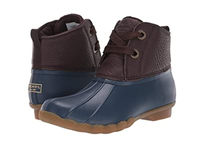 Sperry Saltwater 2-Eye Leather (Brown/Navy) Women
