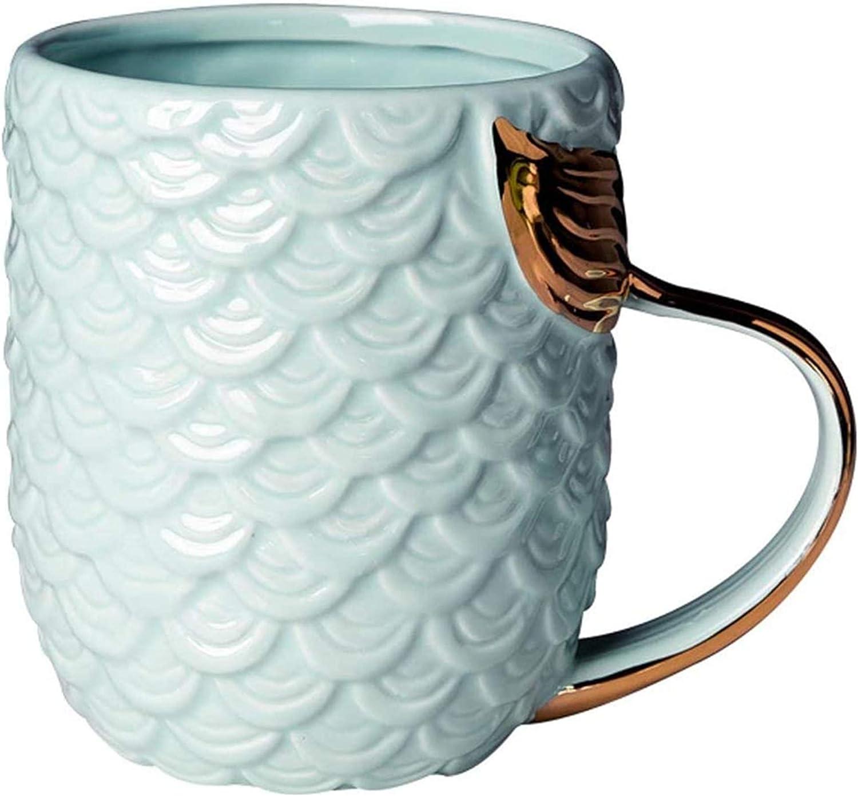 VANUODA Mermaid Coffee OFFicial Mug Ceramic cheap Presen Tail Handle with Cup