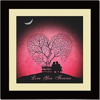 ArtX Paper Premium Romantic Love You Forever Wall Art, Multicolor, Romantic, 16X16 in, Set of 1