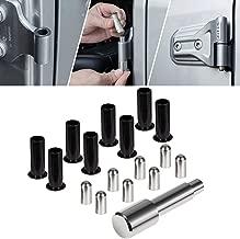 Jade Onlines for Jeep Wrangler Door Pin Guides Hinge Liners Prevent Hinge Scratches During Door Removal for Jeep Wrangler JK TJ JL 1997-2018 4PCS