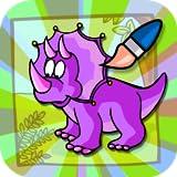 meu livro de colorir dino para crianças e jogo de pintar criança dinossauro