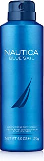 Nautica Blue Sail Deodorizing Body Spray for Men, 6 oz., Male Body Spray in a Classic, Water & Sailing Inspired Fragrance
