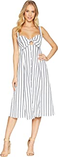Womens Tie Front Midi Dress