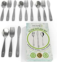 12 Piece Stainless Steel Kids Silverware Set   Child and Toddler Safe Flatware   Kids Utensil Set   Metal Kids Cutlery Set Includes 4 Small Kids Spoons, 4 Forks & 4 Knives