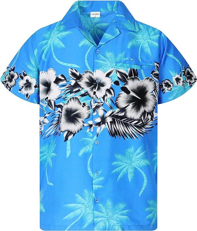 895 opiniones para Camisa Hawaiana enrrollada | Hombres | XS-6XL | Manga Corta | Bolsillo Frontal |