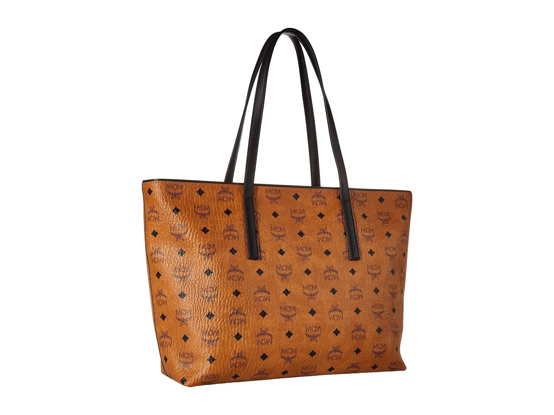 Shopper Mcm Cognac Anya Mcm Medium Anya t6Hvwq