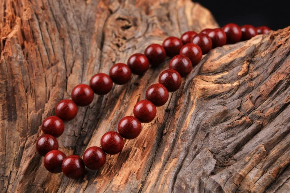 24X19X15mm Natural India Grade AAA High-density Red Sandalwood Beads Carved Mythical Wild Animal Beads Man Bracelet DIY Accessories