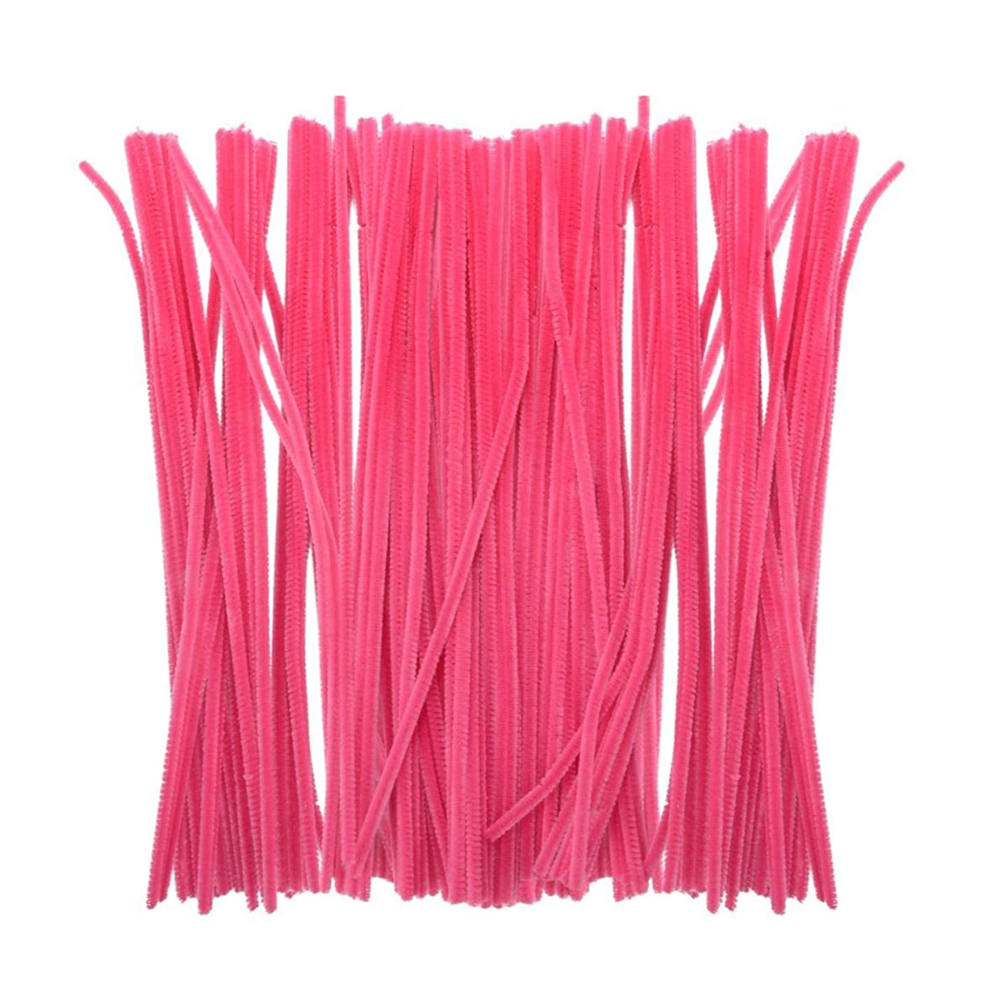 Saim 200Pcs Rose Pink Colored Pipe Cleaners Chenille Stems 12