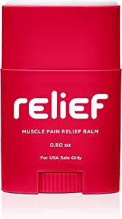 BodyGlide Muscle Pain Relief Balm, 0.8OZ, Red, 0.80Oz