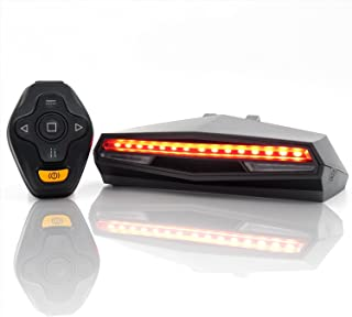 Oricycle Rechargeable Bike Tail Light LED - Remote Control, Turning Lights, Ground Lane Alert,...