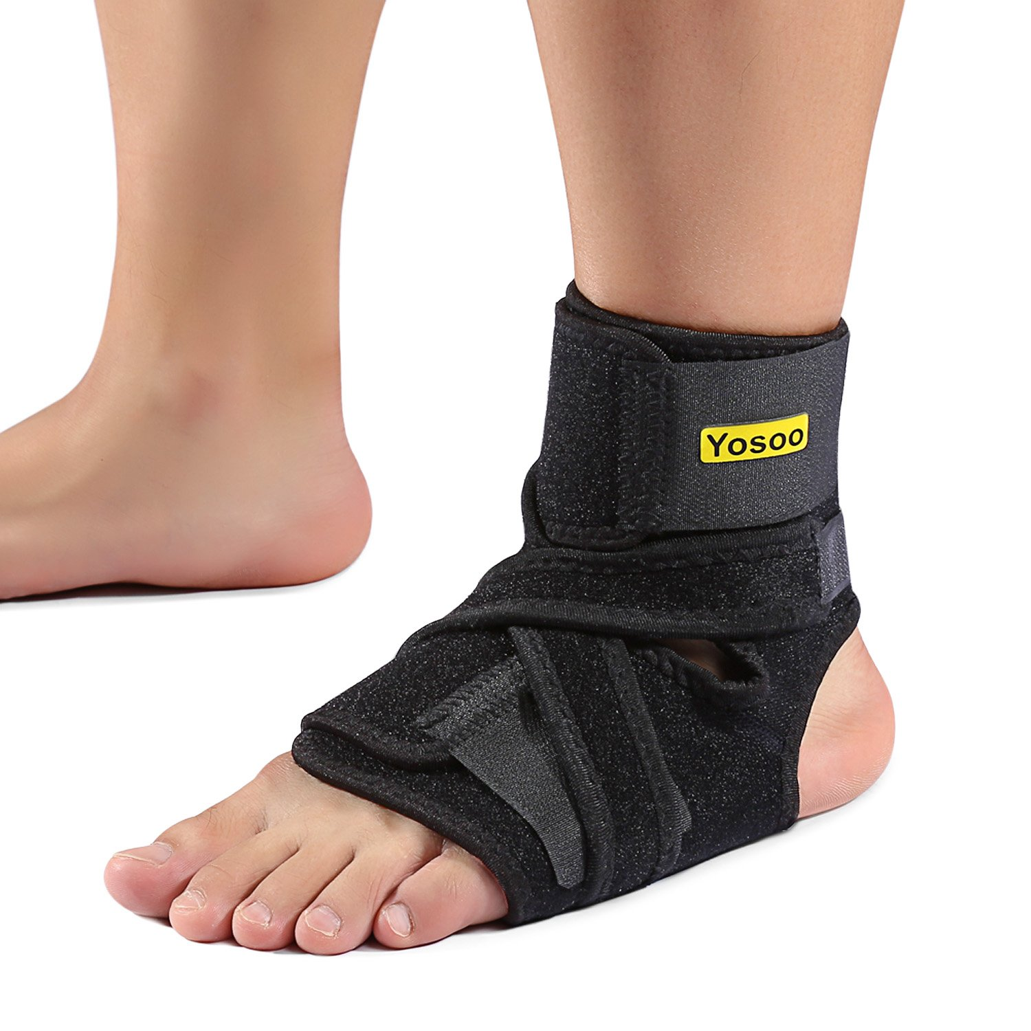 Eulay Breathable Neoprene Ankle Brace for Sprained Ankle,One Size,Black