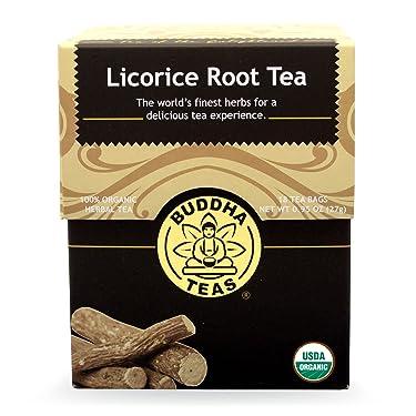 Buddha Teas Licorice Root Tea, 18 Count (Pack of 6)
