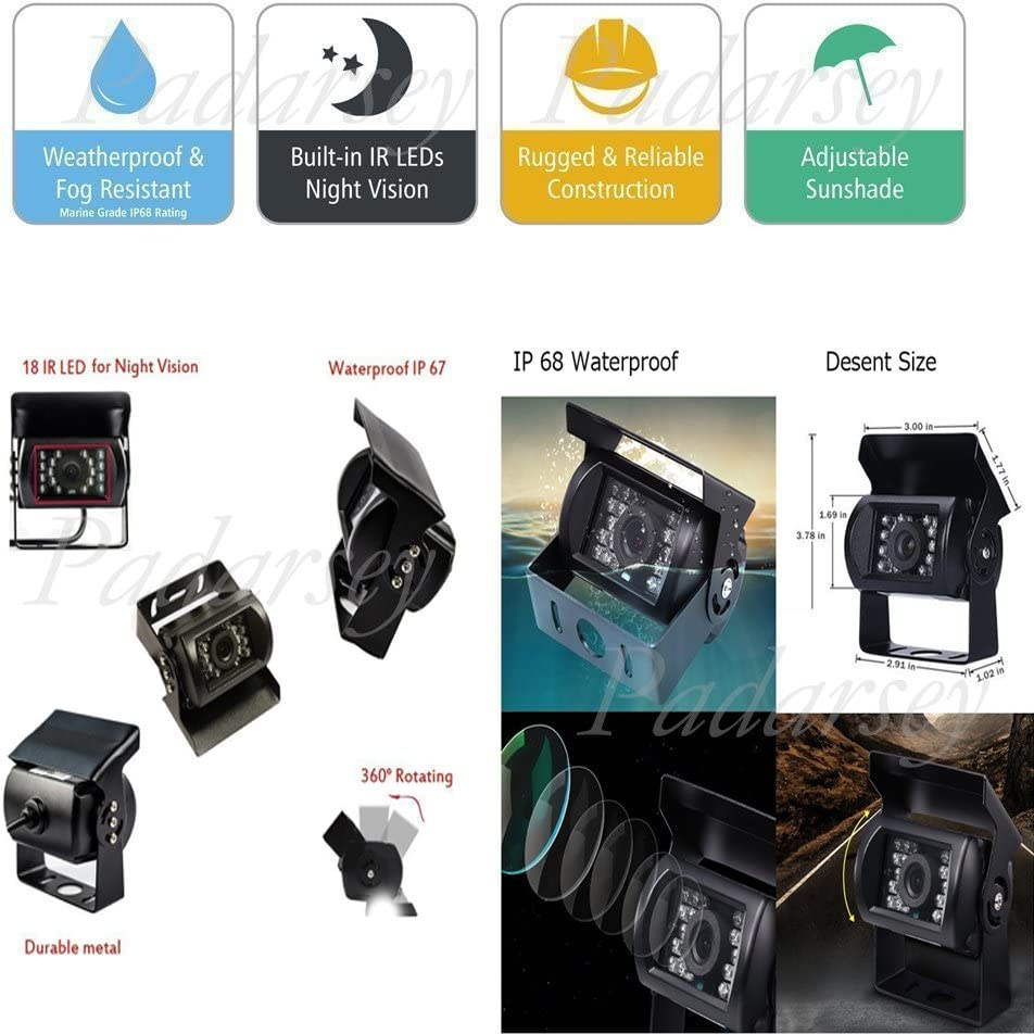 Suckers Mount and Normal Adhesive Stand Padarsey 5 Inch TFT LCD ...