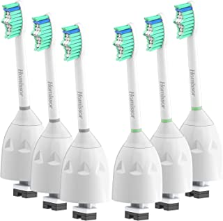 Homissor Replacement Brush Heads Compatible with Phillips Sonicare E-Series HX7022/66, 6 Pack, Fit Sonicare Essence, Xtreme, Elite, Advance and CleanCare Screw-On Electric Sonic Toothbrush Handles