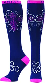 Ariat Women's Presley Knee High Socks,Blue,One Size