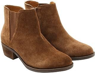 kensie Womens Garrett (Garry) Ankle Boots-Brown, Sz 7