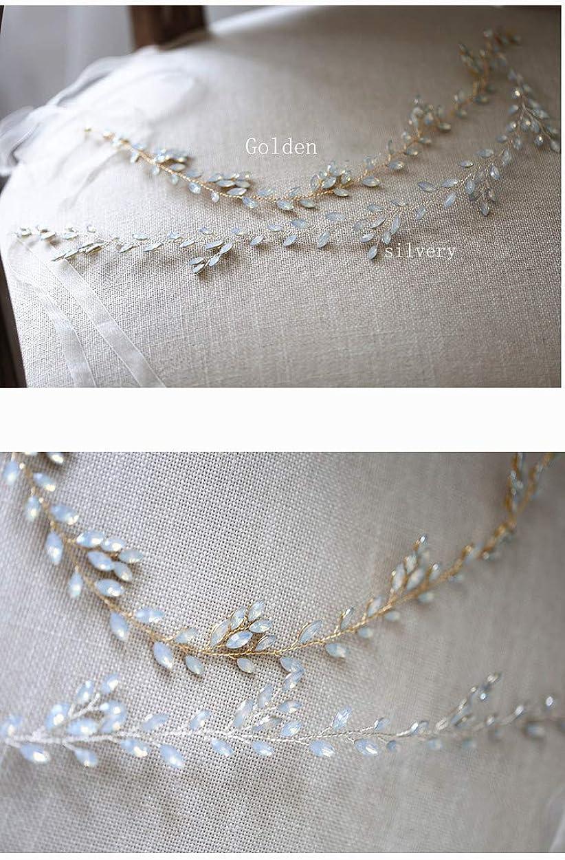 FIDDY898 Bridal Crsytal Hair Accessories Blue Opal Crystal Handmade Bridal Headpiece
