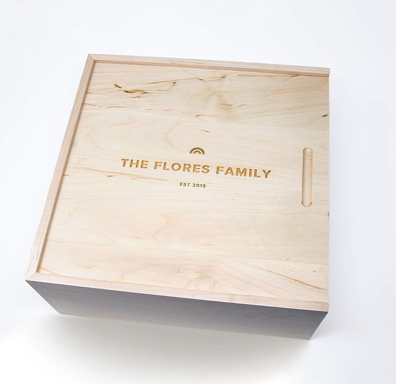 Rainbow Large Wood Personalized Box Super beauty product restock quality top Max 61% OFF Custo Keepsake