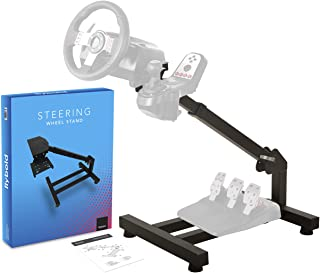 Racing Steering Wheel Stand Gaming Simulator Cockpit with Gear Shifter and Pedal Mount Compatible with Logitech Thrustmast...