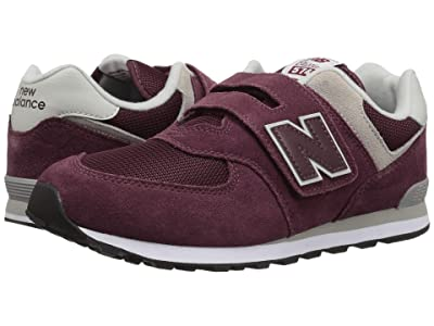 New Balance Kids YV574v1 (Little Kid/Big Kid) (Burgundy/Grey) Boys Shoes