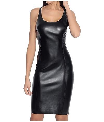 Susana Monaco Faux Leather Dress (Black) Women