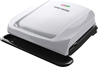 George Foreman GRP1060P Indoor Electric Grill, 4-Serving, Platinum