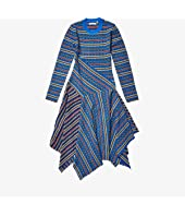 Long Sleeve Rib-Knit Midi Dress