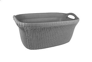 El Helal & El Negma Turt Oval Laundry Basket - Grey