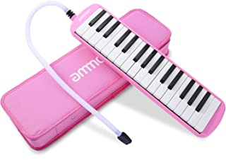 ammoon Melodica 32 Keys Piano Instrument with Carry Case for Music Lovers Beginners Kids..