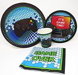 Video Game Party Standard Party Packs (65+ Pieces for 16 Guests!), Gaming Party Tableware, Video Game Party Supplies