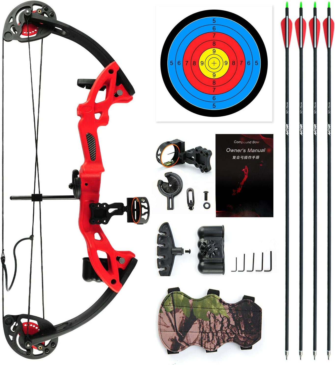 chengchuang Youth Compound Bow Kit Sale Special Price Right Ha ArrowsTarget overseas W 4pcs
