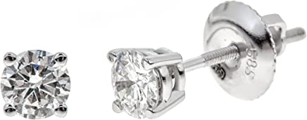 14K Gold Round-Cut Diamond Stud Earring (1/4-2 cttw, K-L Color, I2 Clarity)