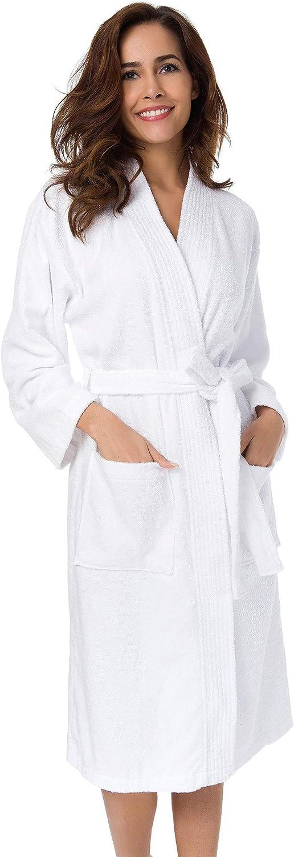 SIORO Women's Direct store Terry Cloth Robes shipfree Kimono Leng Calf Bathrobe Cotton