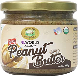 Elworld Agro & Organic Food Products Spicy Peanut Butter 350G (Pack Of 2)