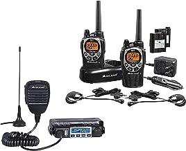 Midland - MXT115 & GXT1000 Bundle - MicroMobile Two-Way Radio w/External Magnetic Mount Antenna & GXT1000 Two-Way Radio - Up to 36 Mile Range Water Resistant Walkie Talkies (Pair Pack)(Black/Silver)