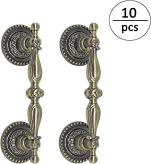 (10pack) Antique Bronze Handles for Cabinets 64mm 2 1/2inch Cabinet Pulls Knobs Vintage Style Kitchen Hardware 90mm 3 1/2inch Overall Length Bronze Dresser Drawer Handle Pull