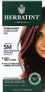 Herbatint Permanent Haircolor Gel, 5M Light Mahogany Chestnut, 4.56 Ounce