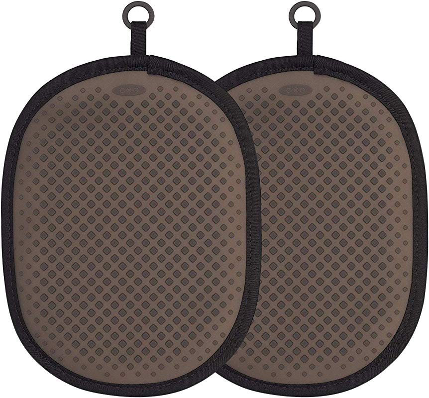 OXO Good Grips Silicone Pot Holder Black 2 Pack