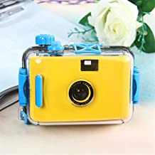 BABIFIS Children's Camera Non-Disposable Camera Film Camera LOMO Camera Waterproof and Shockproof (no Battery Required) Yellow