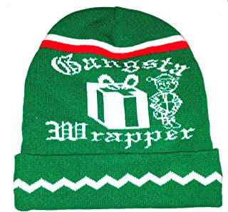 b5ed13751126cf Christmas Gangsta Wrapper Knit Winter Beanie Hat Cap Ugly Sweater Party X  Mas