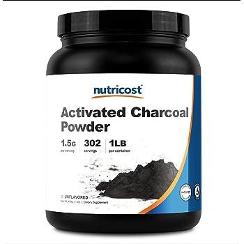 Nutricost Activated Charcoal Powder 1lb - Food Grade Powder, Vegan, Gluten Free, Non-GMO
