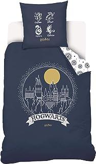 Warner Harry Potter - Juego de Funda nórdica y Funda de Almohada (100% algodón, 140 x 200 cm, 63 x 63 cm), diseño de Harry Potter