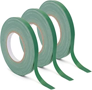 """Floral Tape Green, Flower Wrap Adhesive Waterproof Tape for Bouquets by Royal Imports 0.5"""" (60 Yd/180 Ft) - 3 Rolls Bulk"""