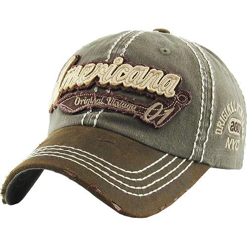 8ceafdf3057 KBETHOS American Spirit Collection USA Distressed Vintage Baseball Cap Dad  Hat Adjustable Unconstructed
