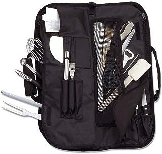 Deglon Empty 8-Pockets Soft Kit Wrap for Knives, Black